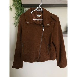 Max Studio Teddy Bear Moto Jacket